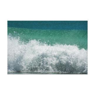 De Atlantische Oceaan die gekrulde golf breken Canvas Afdrukken