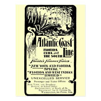 De Atlantische Spoorweg 1934 van de Lijn van de Briefkaart