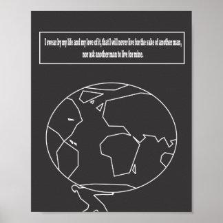 De atlas haalde citaat op poster