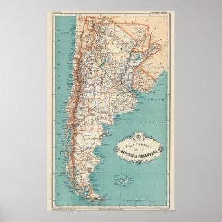 De Atlas van Argentinië Poster