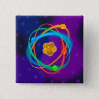De atoom Vlekken van de Structuur Vierkante Button 5,1 Cm