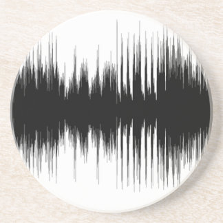 De audio Auditieve Muziek Muzikale Recording.pn Zandsteen Onderzetter