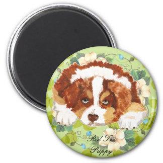 De Australische Groene Bladeren van het Puppy ~ Magneet