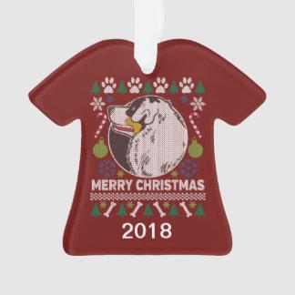 De Australische Sweater van Kerstmis van de Hond Ornament
