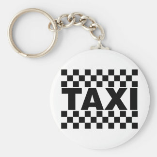 De Auto van de Cabine ~ van de Taxi van de taxi ~ Basic Ronde Button Sleutelhanger