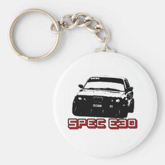 De Auto van de specificatie E30 Basic Ronde Button Sleutelhanger