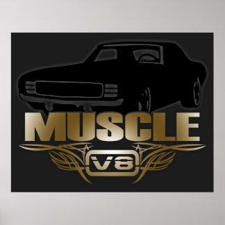 De Auto van de spier V8 Poster
