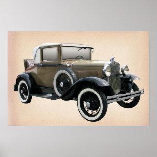 De Auto van Oldtimer Poster