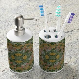 De Automaat van de Zeep van Mandala van de lente & Tandenborstelhouder