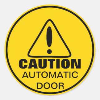 De Automatische Deur van het Teken van de Ronde Sticker