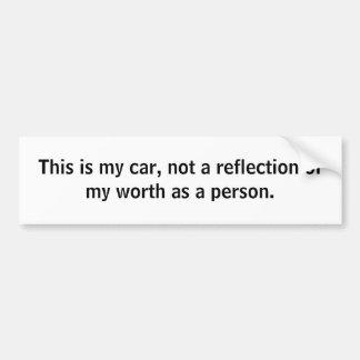 De auto's zijn niet alles bumpersticker
