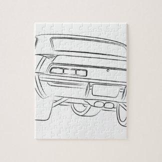 De autotekening van de spier puzzel