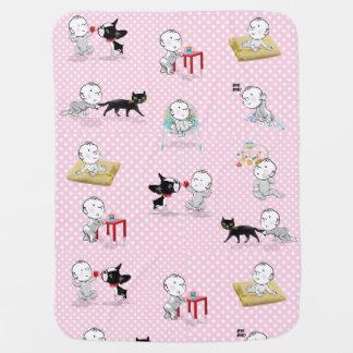 De avonturen van de deken van het het meisjesbaby inbakerdoek