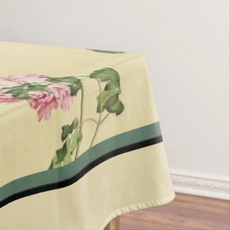 De Aziatische Pioen bloeit het BloemenTafelkleed Tafelkleed