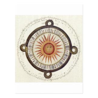 De Azteekse Steen van de Zon Briefkaart
