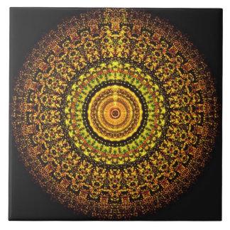 De Azteekse Tegel Mandala van de Marsbewoner Keramisch Tegeltje