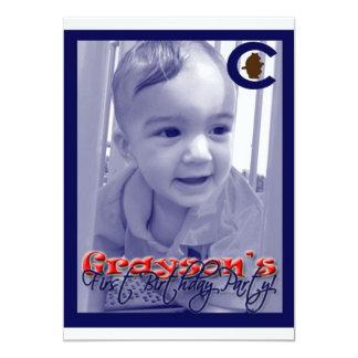 De b-Dag van Grayson 12,7x17,8 Uitnodiging Kaart
