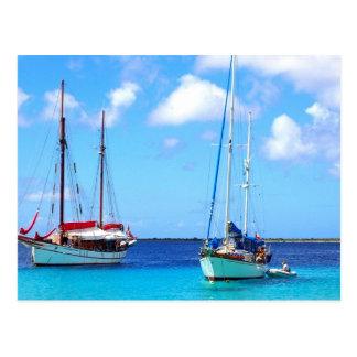 De Baai Bonaire van Kralendijk van het briefkaart