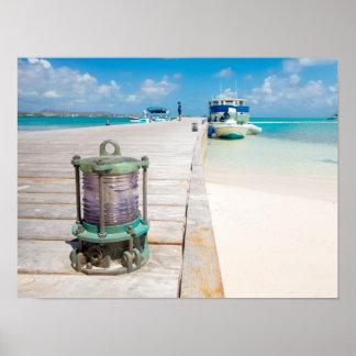 De Baai, de Antigua & Barbuda van Jumby Poster