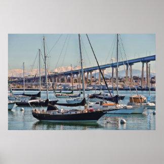 De Baai en de Brug van San Diego Poster