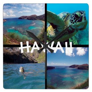De Baai Hawaï van Hanauma Vierkante Klok