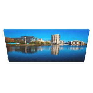 De Baai van Cardiff Canvas Afdruk