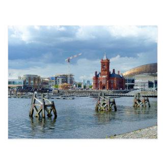 De Baai van Cardiff, Cardiff, Wales Briefkaart