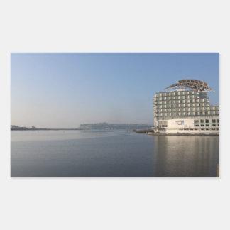 De Baai van Cardiff (de Zomer) Rechthoekige Sticker