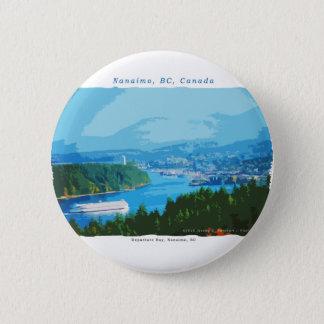 De Baai van het vertrek, Nanaimo, BC Ronde Button 5,7 Cm