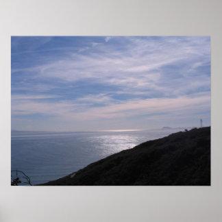De Baai van San Diego dichtbij Coronado Poster
