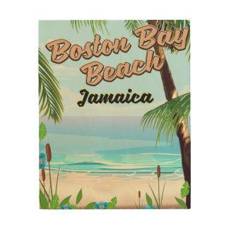 De baaistrand van Boston, Jamaïca Hout Afdruk