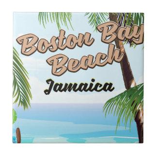 De baaistrand van Boston, Jamaïca Keramisch Tegeltje