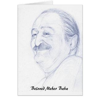 De Baba van Meher Wenskaart