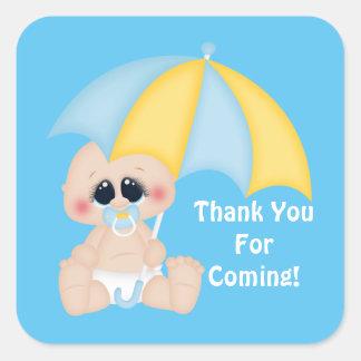 de baby jongen dankt u sticker