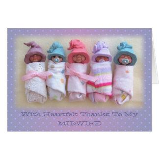 De Babys van de klei: Bedankt aan Mijn Vroedvrouw: Briefkaarten 0