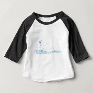 De Babys van de Walvis van Wally 3/4 Raglan van Baby T Shirts