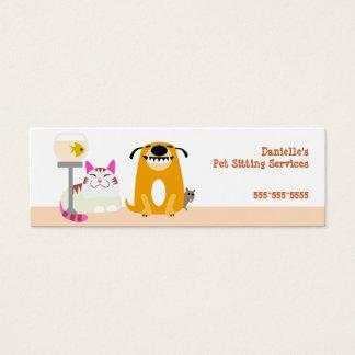 De Babysitter van het huisdier Mini Visitekaartjes
