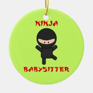 De Babysitter van Ninja Rond Keramisch Ornament