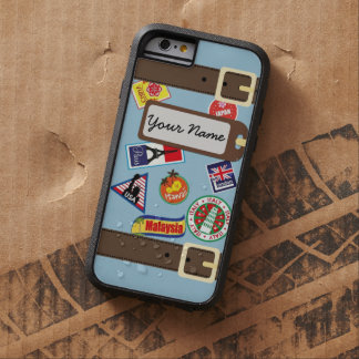 De Bagage van de reis met iPhone 6 van Stickers Tough Xtreme iPhone 6 Hoesje