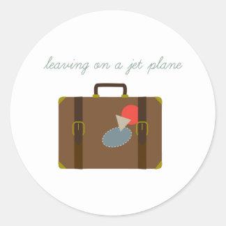De Bagage van het vliegtuig Ronde Stickers