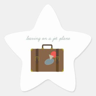 De Bagage van het vliegtuig Ster Stickers
