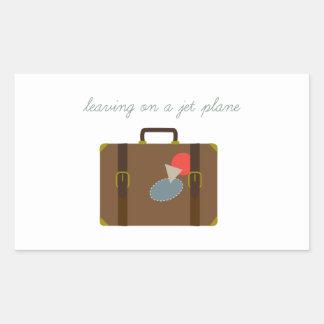 De Bagage van het vliegtuig Rechthoekige Stickers