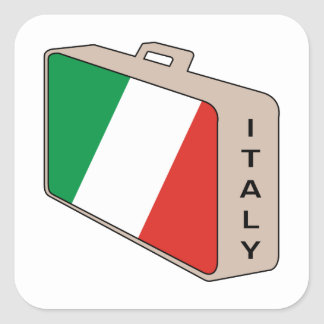 De Bagage van Italië Vierkante Sticker