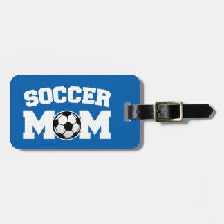 De bagagelabel van het Mamma van het voetbal