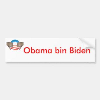 De bak Biden van Obama beduimelt neer Bumpersticker