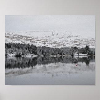 De Bakens van Brecon in de Sneeuw Poster