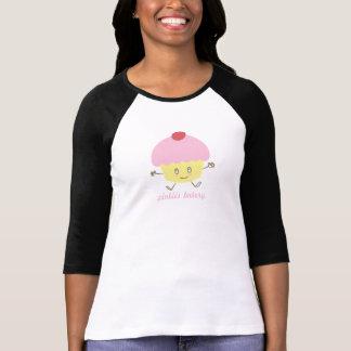 De Bakkerij Cupcake van de pink 3/4 Raglan van het Shirts