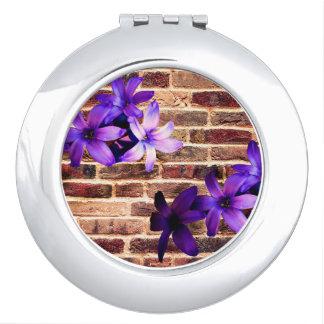 De Bakstenen muur bloeit Compacte Spiegel Makeup Spiegels