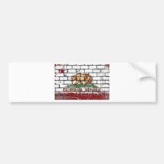 De Bakstenen muur Grunge van de Vlag van Bumpersticker
