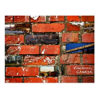 De Bakstenen muur van Vancouver Briefkaart